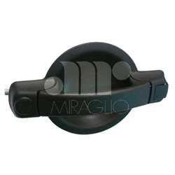 80-680 Outer door handles In black plastic Side right Without opening block 2000 -> 2006 FIAT DOBLO' 735363993