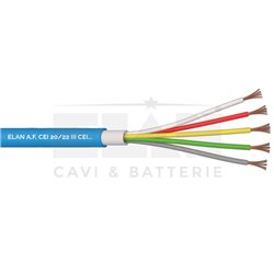 040551 cable gate automation double sheath light blue 5X0,50 N/ SHIELDIN Germ.GR4 hank 100 MT.