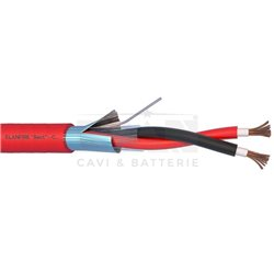 282151R fire cable ELANFIRE TWISTATO shielded 2X1,5 sheath red hank MT.100