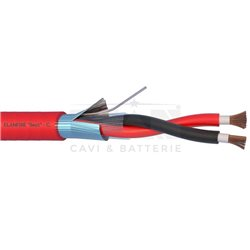 282251R fire cable ELANFIRE TWISTATO shielded 2X2,5 sheath red hank MT.100