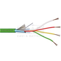 240041 alarm cable shielded 4X0,22 LSZH GREEN