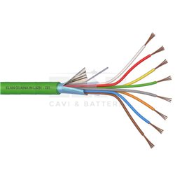 240081 alarm cable shielded 8X0,22 LSZH GREEN