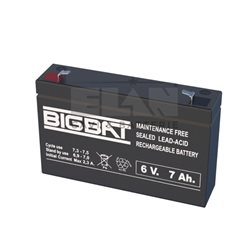 00607 Lead-acid battery 6V 7Ah