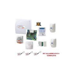 KIT Burglar Alarm central PLUS BENTEL KYO4 4 zones keyboard LCD BOX siren