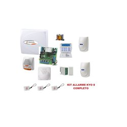 KIT Burglar Alarm central PLUS BENTEL KYO8 8 zones keyboard LCD BOX siren
