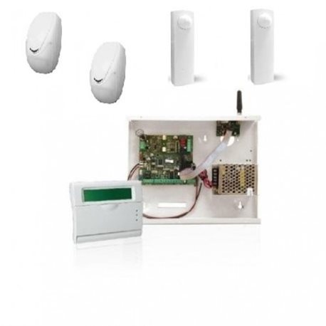 home burglar alarm KIT via cable C 24 GSM K-LCDV sensor sensors AMC