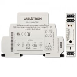 JA 110N DIN JABLOTRON BURGLAR ALARM RADIO output module power on BUS PG-DIN